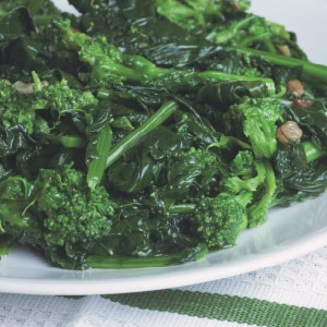 Asian Greens with Ginger and Shallots