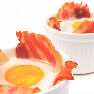 Bacon and Egg Breakfast Baskets