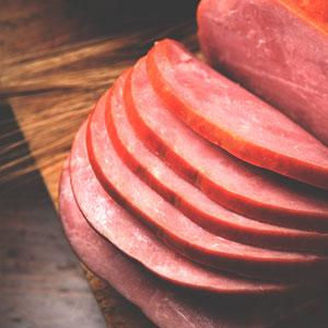 Basil Tomatoes and Sautéed Ham