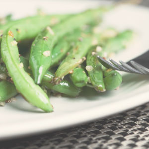 BBQ Green Beans with Sesame