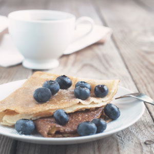 Blueberry and Ricotta Crepe