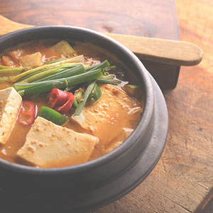 Creamy Miso Soup with Tofu