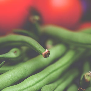 Green Beans with Tomato, Mint and Basil