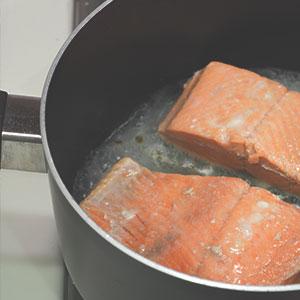 Poached Salmon with Dijonnaise Sauce